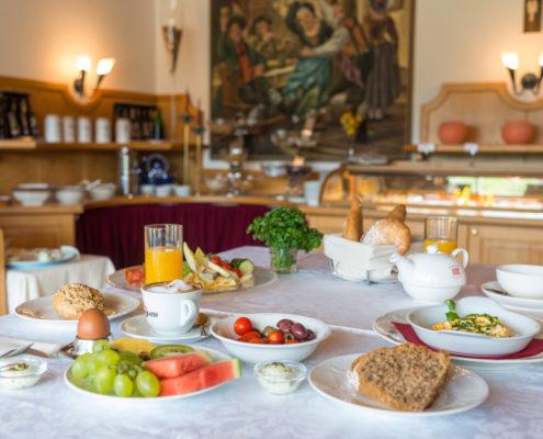 Frühstückstisch Hotel Berghof