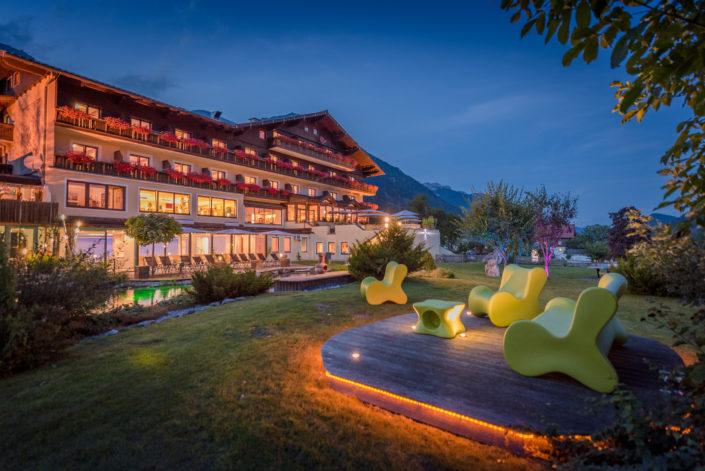 Hotel Berghof im Abendlicht
