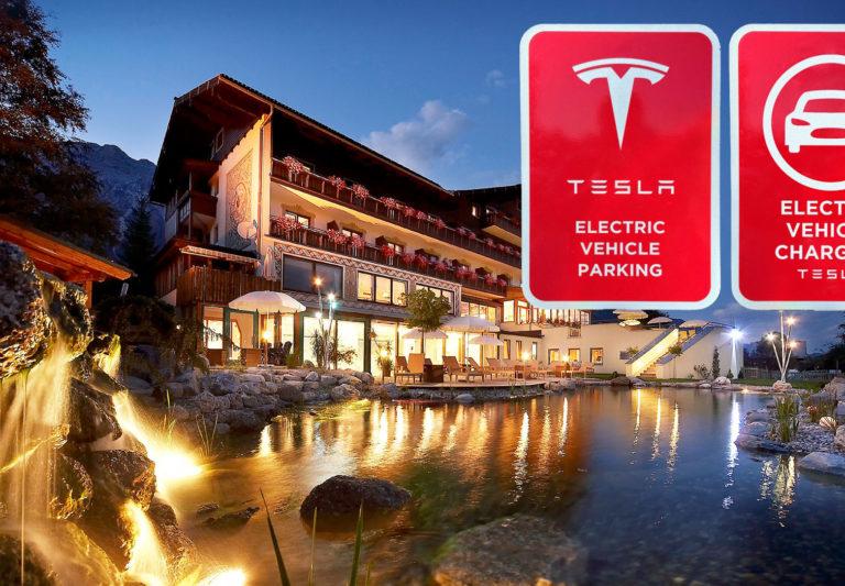 Tesla Ladestation im Hotel Berghof