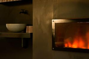Wasser und Feuer im Ruheraum